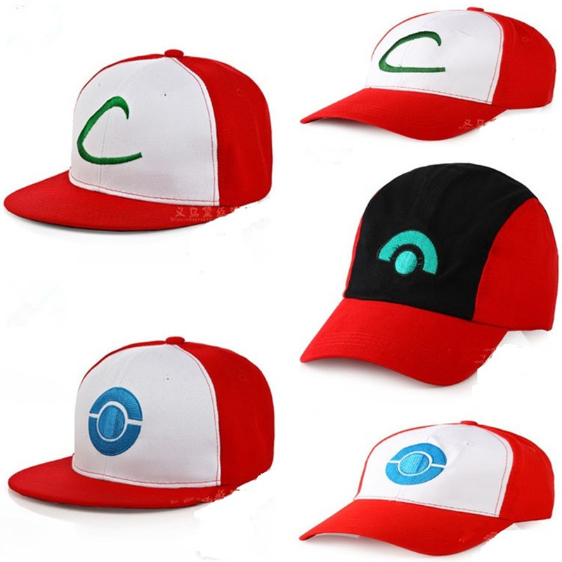 Cartoon Anime Poke mon Go Ash Ketchum Baseball Cap Cosplay Pocket Monster Pika chu hip hop Man Woman Adjustable Curved Visor Hat new cartoon pikachu cosplay cap black novelty anime pocket monster ladies dress pokemon go hat charms costume props baseball cap