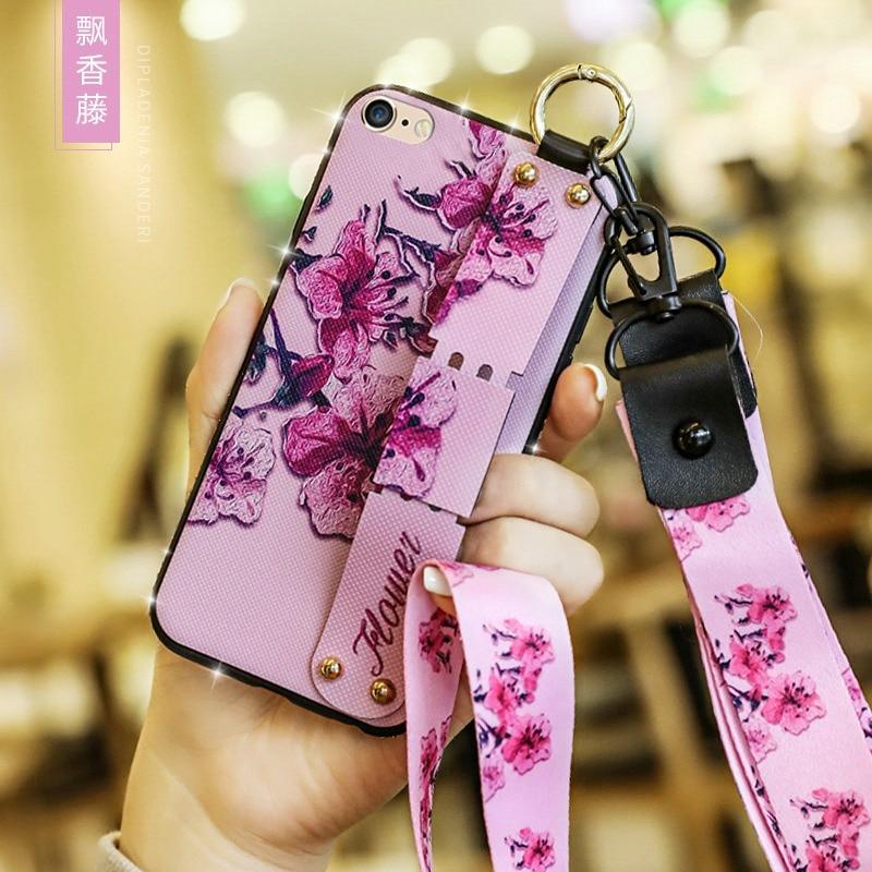 Wrist Strap Case For Xiaomi Mi 9 SE 8 Lite Mi Max 2 5X A1 6X A2 Play Lanyard Strap Cover For Redmi Note 7 5 4X 4 6A 6 Pro 5 Plus