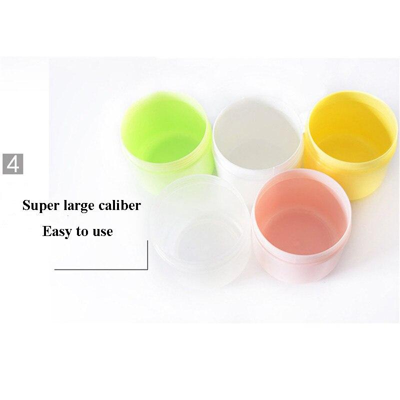 1 шт. бутылки многоразового использования Пластик пустой Макияж Jar горшок крем для лица/лосьон/контейнер для косметики 5 цветов 10/20/30/50/100/150g