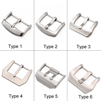 18 20 22 23 24mm Metal Buckle Watch Strap Band Wholesale Solid Stainless Steel Silver Black Brushed Watchbands Clasp Accessories - discount item  50% OFF Watches Accessories