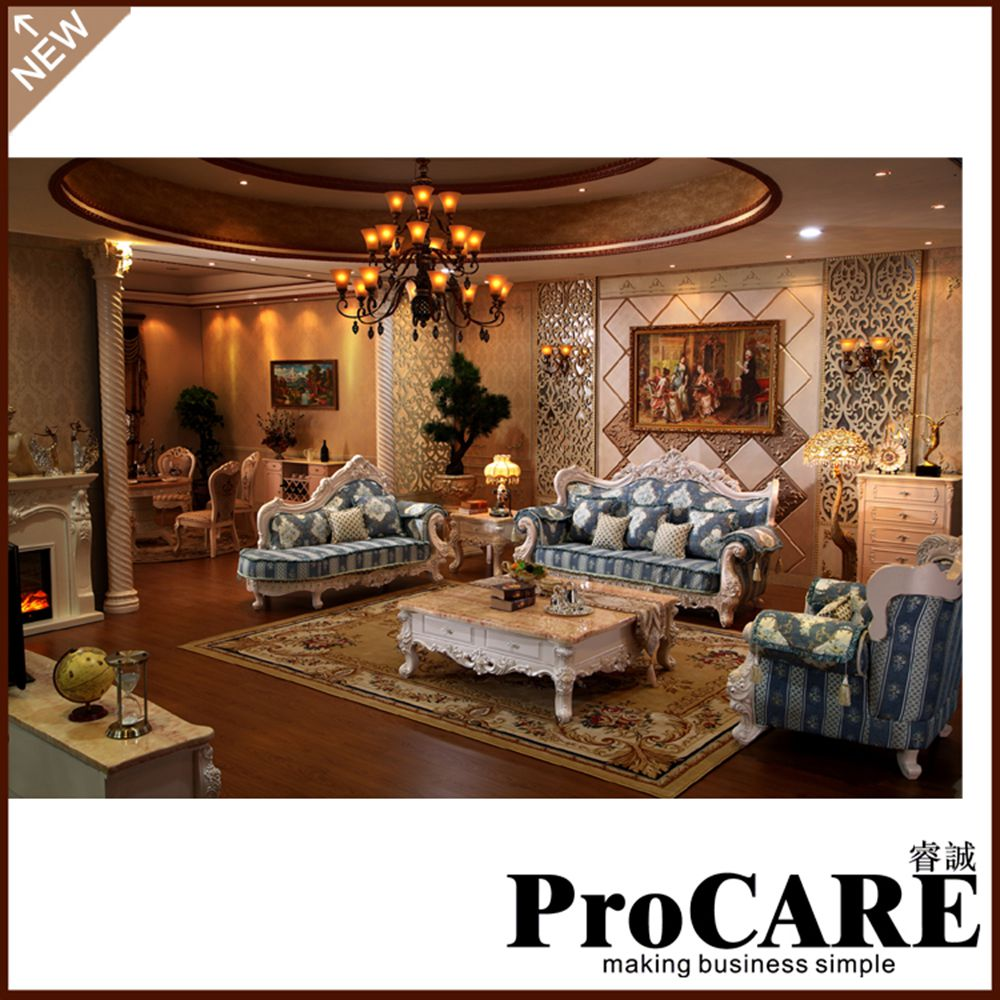 Popular Modern Style Fabric Designs Living Room Sofa Set Furniture