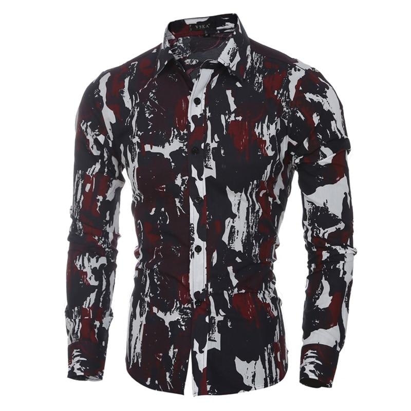 Novo 2018 Homens Marca Camisas de Vestido Dos Homens camisa Ocasional - Roupas masculinas