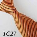 2016 Últimas Diseñador Estilo Ties Naranja/Negro/de Lvory Inclinada Diseño Del Grano/de la Boda/Vestidos/Vestido Ocasional/novio Bestman Corbata Para Los Hombres