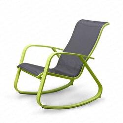 Lekki balkon fotel wypoczynkowy fotel bujany stop wypoczynek leżący łóżko proste leniwy drzemka krzesło krzesło 180kg łożysko