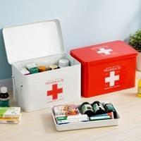 Multi layered Family Medicine Metal Medical Box Medical First Aid Storage Box Storage Medical Gathering First aid kit medicine