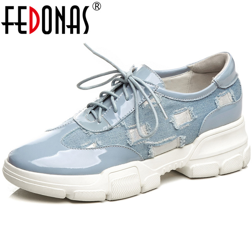 FEDONAS Fashion Women Denim Sneakers Genuine Leather Flats Heels Lace Up Casual Shoes Woman Ladies Round Toe Sneakers ShoesFEDONAS Fashion Women Denim Sneakers Genuine Leather Flats Heels Lace Up Casual Shoes Woman Ladies Round Toe Sneakers Shoes
