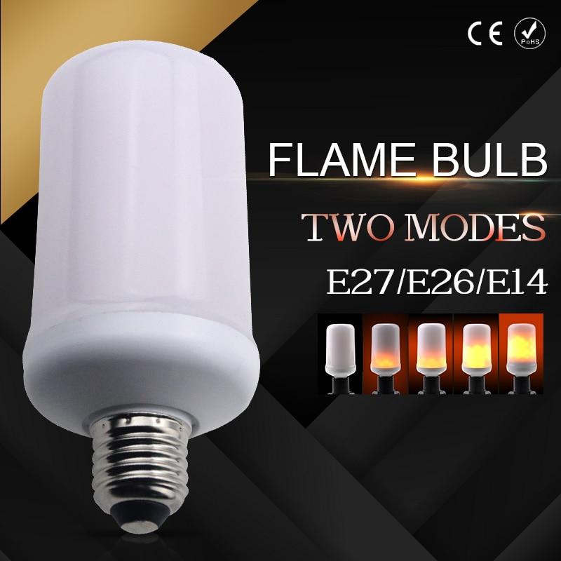 DC12V Flame Bulb LED Wall Lamp Flame Light E27/E26/E14 SMD2835 99leds Two Modes Wedding Decorations For Home Wedding Lighting