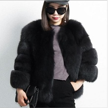 Fur coat fashion jackets for women winter 2018 new imitation fox fur grass ladies short size large artificial