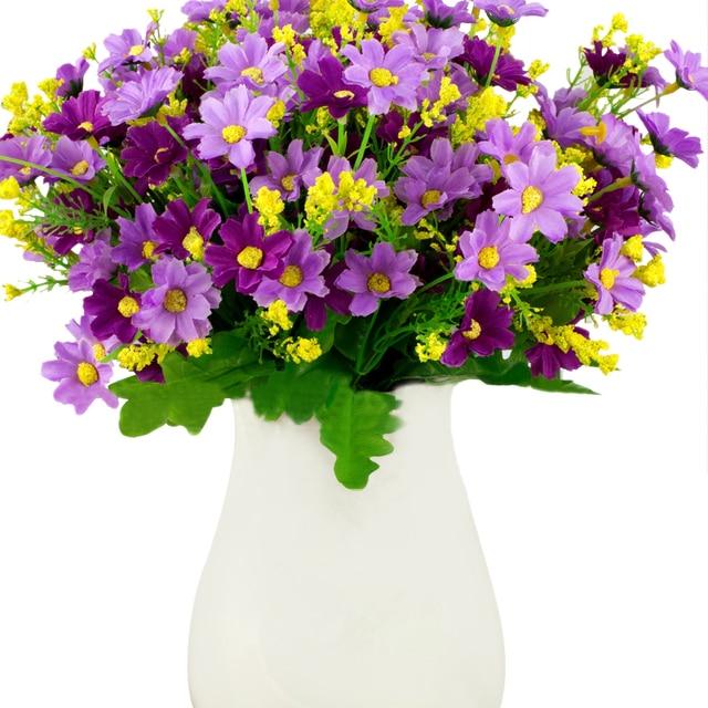 The Artificial Flowers Bouquet Party Wedding Decor Fake Indoor Outdoor  Garden WST