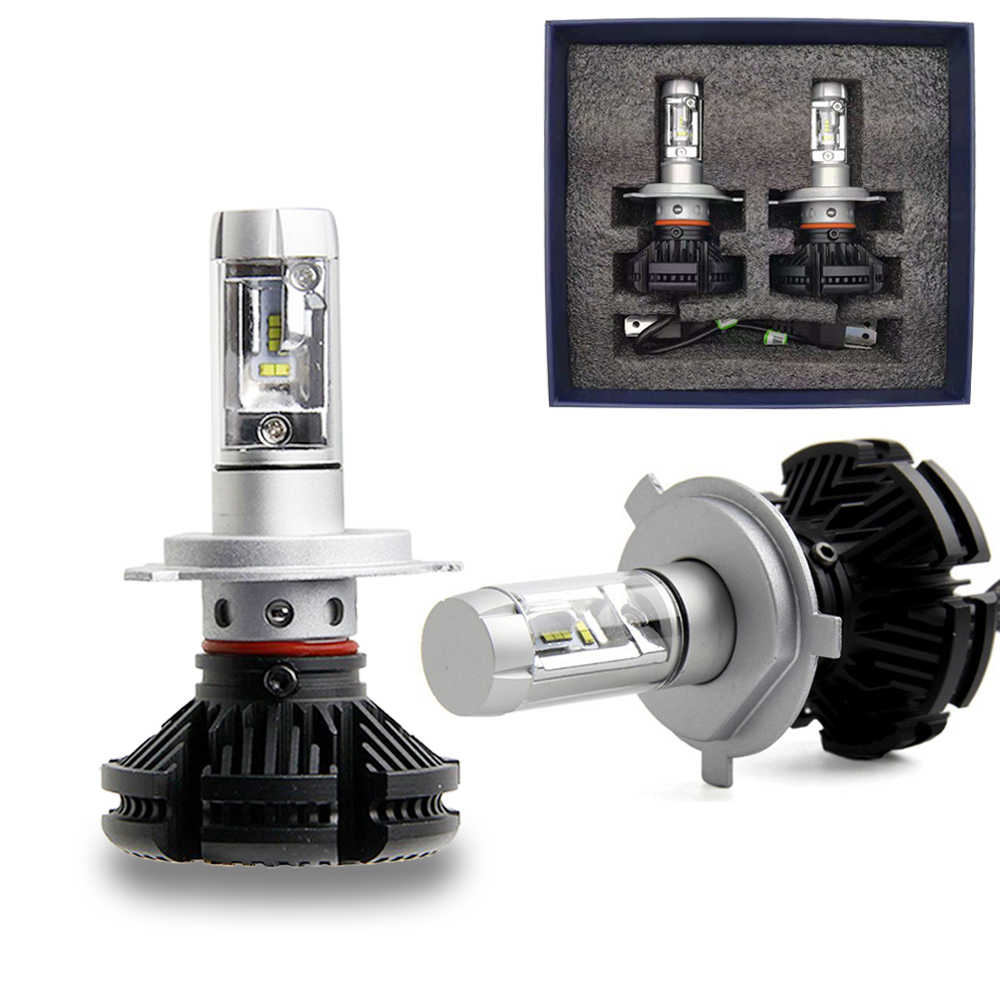 2pcs X3 H4 LED Bulb H7 H1 H3 H8 H9 H11 H13 9005 HB3 9006 HB4 9004 9007 Auto Headlamp 6000LM ZES Car Light LED Front Fog Lamp