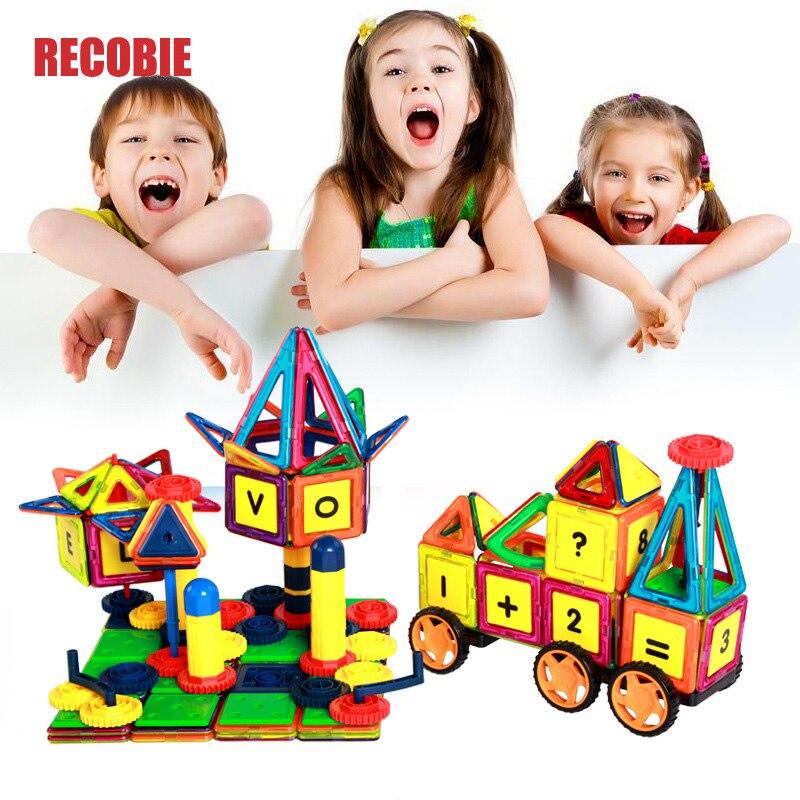 119 pièces Kid blocs magnétiques constructeur ensemble garçons filles construction aimants jouet Magnec bloc éducatif Designer pour enfants qw0019