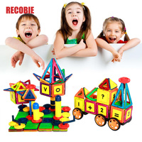 119PCS Kid Magnetic Blocks Constructor Set Boys Girls Building Magnets Toy Magnec Block Educational Designer For Children qw0019