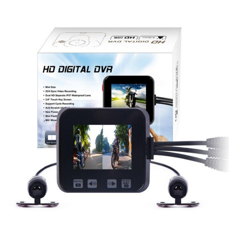 imágenes para Original C6 coche cuadro negro de doble lente full hd 720 P motocicleta dvr cámara, ayuda de la cámara del GPS y el g-sensor