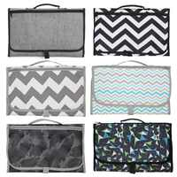 Portable Changing Station For Newborn Baby Infant - Waterproof Lightweight Travel Home Diaper Changer Mat With Pockets