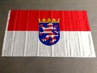 Johnin висит 90*150 см Германия состояние гессенской флаг для украшения
