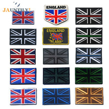 Embroidered British Flag Armband Patches  Woven Label Badge Hook&Loop Fasteners Clothing Sewing Apparel Accessories Collectibles