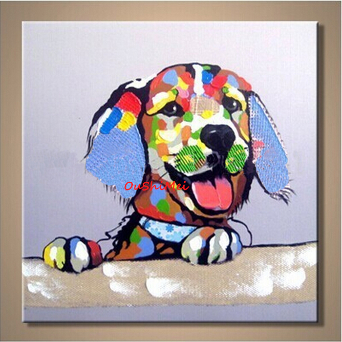 Lovely dog oil painting scenery paintings wedding for Oil painting for kids