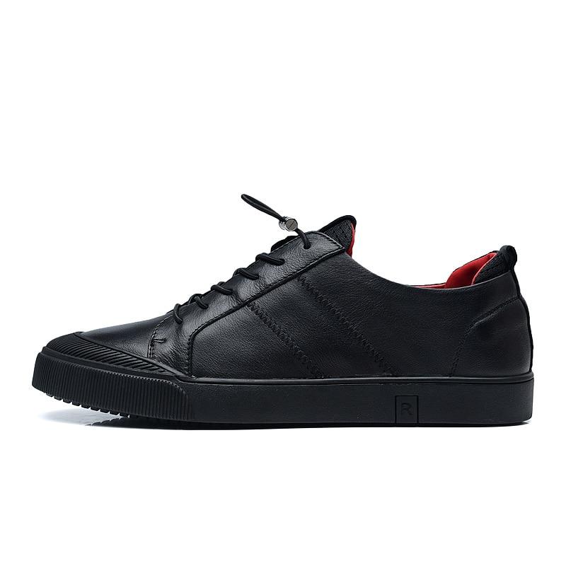 Mens casual schoenen leer echt koe Topkwaliteit Designer Fashion - Herenschoenen - Foto 3