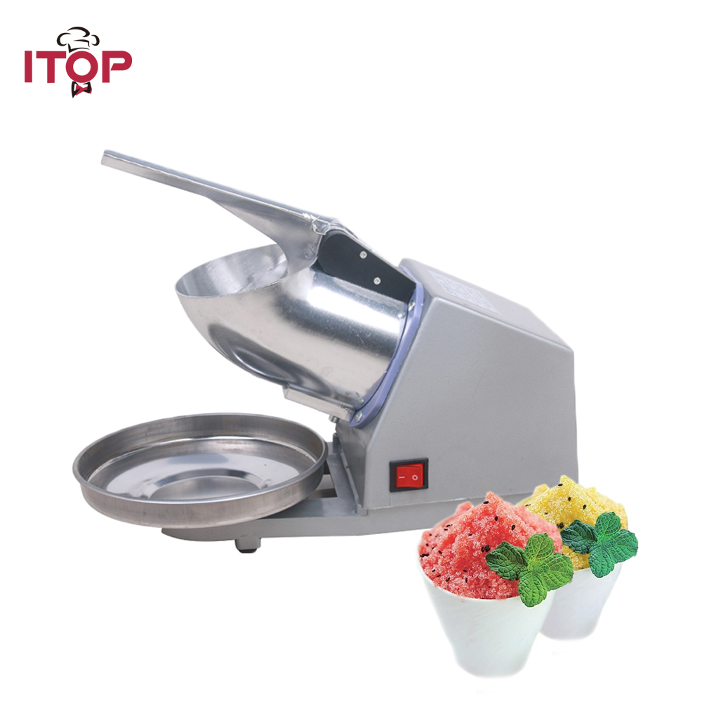 ITOP Commercial Electric Ice Crusher Ice Shaver Chopper Commercial DIY Ice Cream Maker for Coffee Shop Hotel jiqi electric ice crusher shaver snow cone ice block making machine household commercial ice slush sand maker ice tea shop eu us