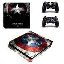 Marvel Captain America PS4 Slim Skin Sticker