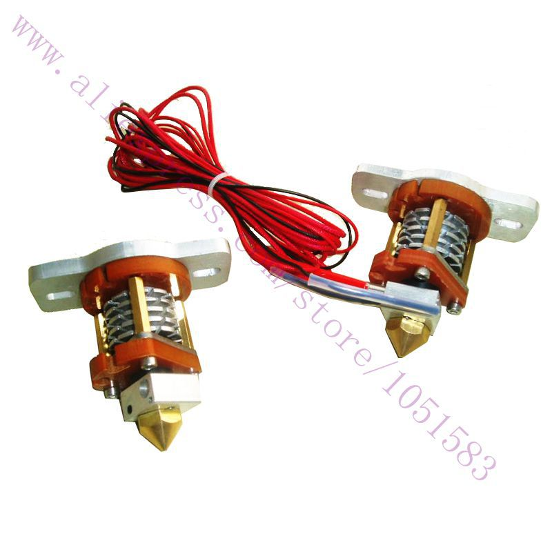 Reprap mouth budaschnozzle 2.0 hotend Extruder with Heater&NTK 100k resistance for 3.0 / 1.75mm filament 3D printer useReprap mouth budaschnozzle 2.0 hotend Extruder with Heater&NTK 100k resistance for 3.0 / 1.75mm filament 3D printer use