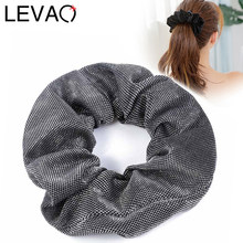 LEVAO Fashion Scrunchies Ponytail Holder Tail Wrap Shiny Elastic Hair Bands for Women Headwear Girls Hair Accessories Hair Ties(China)