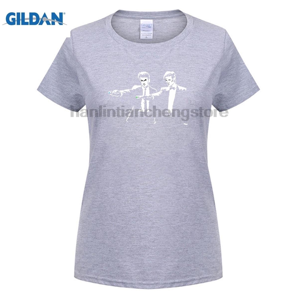 GILDAN 2018 summer womans DIY T-shirts Doctor Who short sleeve O-neck big yard cotton boy solid T-shirt A+quality