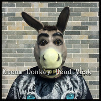 Funny Party Cosplay Cute Donkey Mask Animal Head Masks Masquerade Adult donkey Horse Mask Halloween Props Costumes Fancy dress