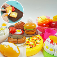 Children Kitchen Cutting Toys Miniature tableware and food toy Fast Food chopsticks Pretend Play Plastic Kids  Education Toy children s kitchen toys plastic simulation food pizza ice cream dessert fruit cutting pretend play early education toy for kids