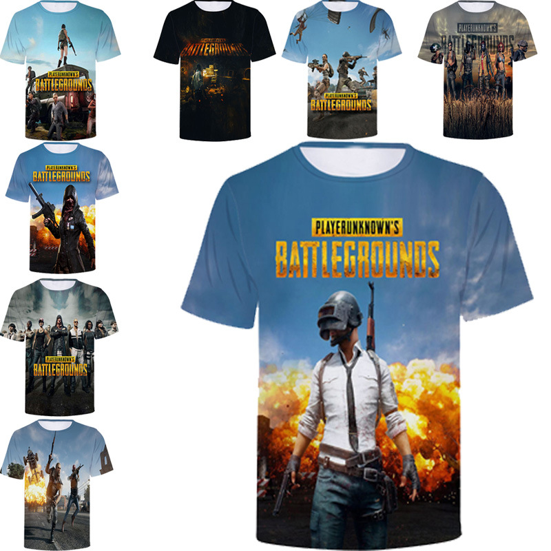 PUBG 3D t shirt Costumes Men/women Aikooki Fashion Playerunknown's Battlegrounds Men's t shirt PUBG 3D Print Plus Size Clothe