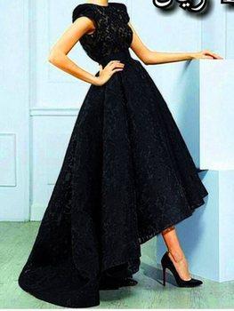 Abiti Personalizzati | Abiti Da Noiva 2020 Custom Made Vintage Cinghie Alto Basso Pizzo Nero Abiti Da Sera Convenzionale Lungo Di Promenade Del Partito Del Vestito Robe De Soriee