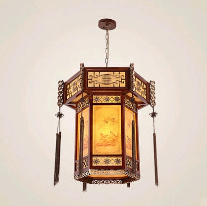 Tradition Chinese style carved wood art Pendant Lights Retro countryside house lamp for bar&balcony&corridor&porch&stairs MYR003