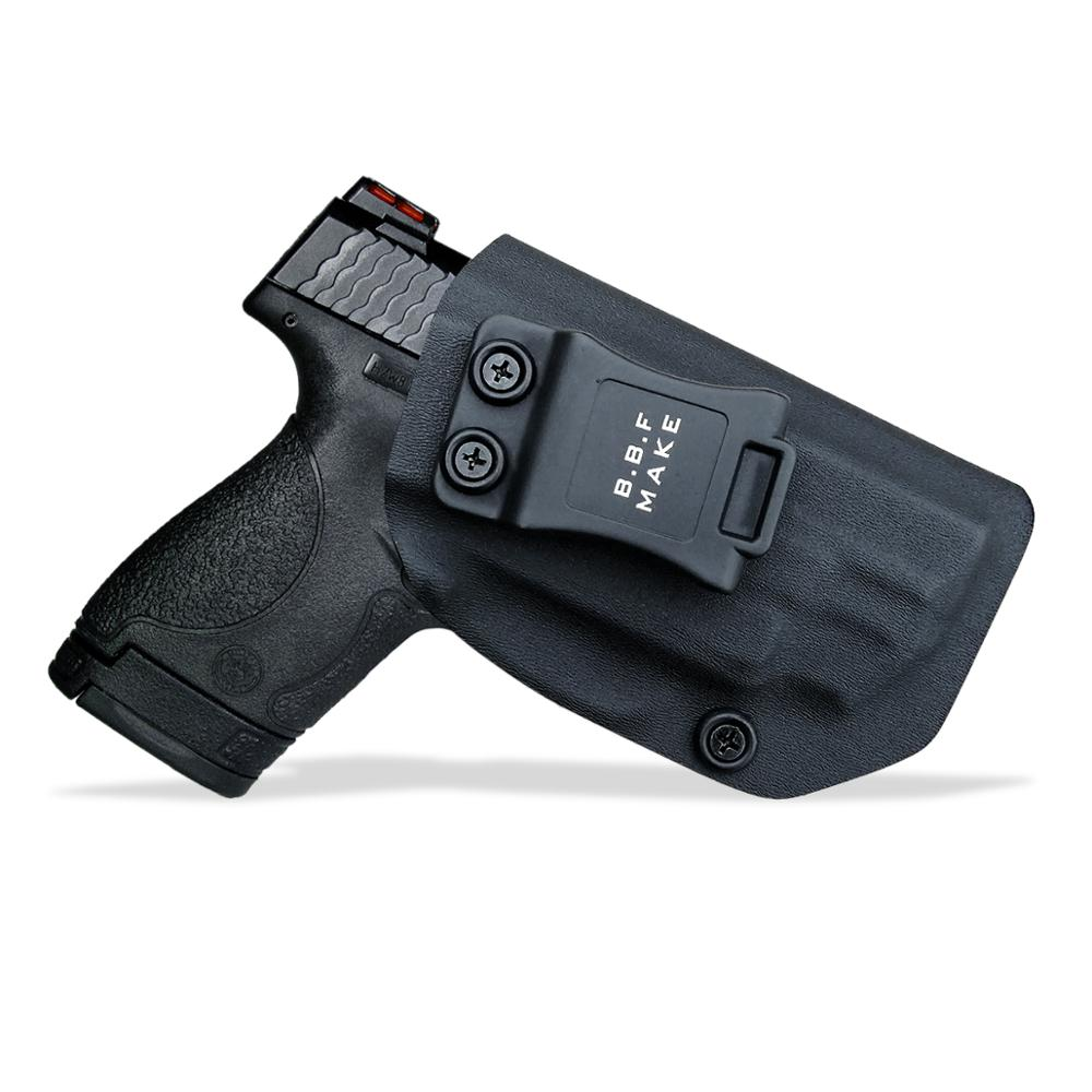 B.B.F Make IWB KYDEX Holster Fits: M&P Shield 9MM/.40 s&w Laser Gun Holsters Concealed Carry Bag Guns Concealment Case