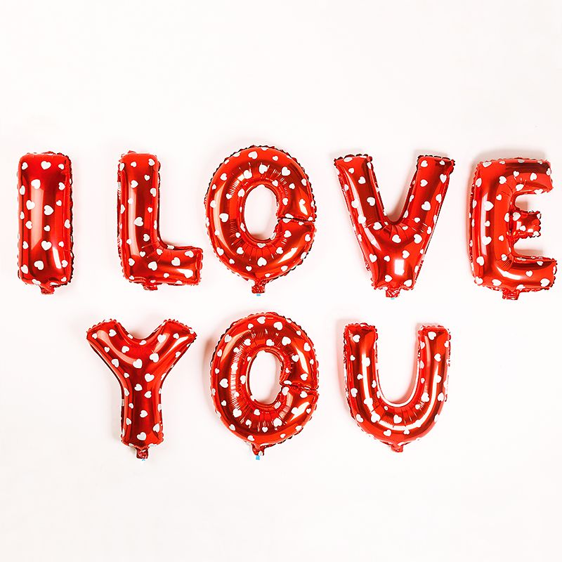 I LOVE YOU letter Foil Balloons Wedding Decoration mariage party decoration vale