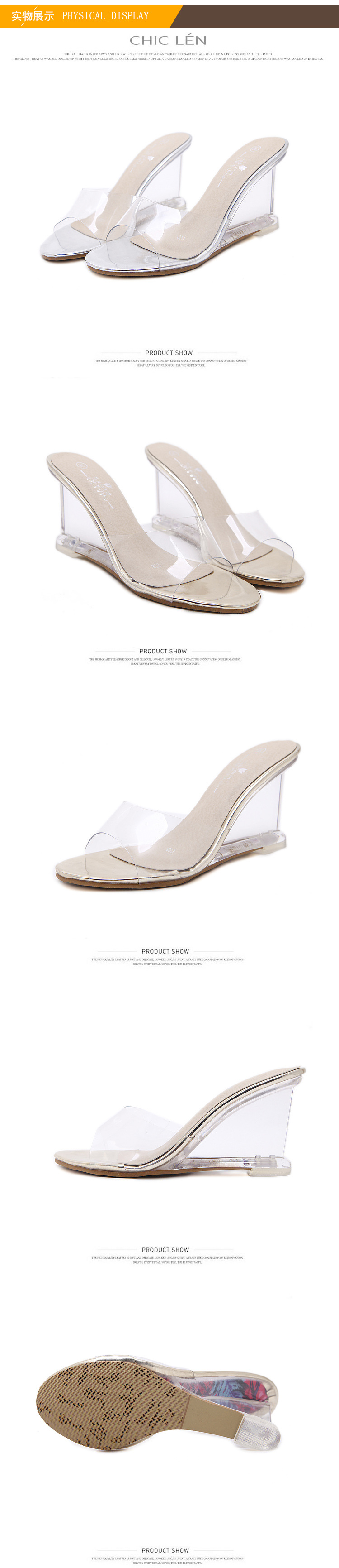 HTB1DUU6KeGSBuNjSspbq6AiipXaV HOKSZVY Women Slipper High Heels Summer Summer Women's Shoes Word Buckle Simple Wedge Sandals Transparent Clear Shoes LFD-833-2
