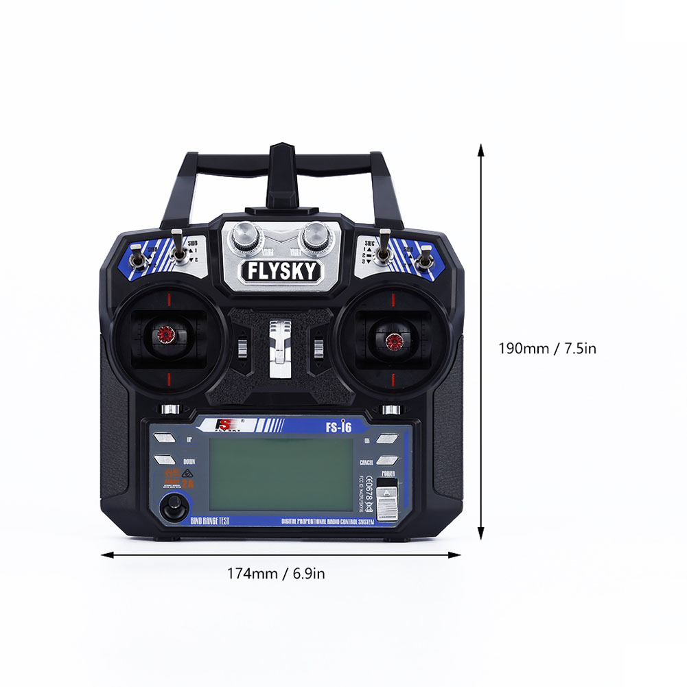 FlySky FS-i6 2.4G 6CH AFHDS RC Transmitter With FS-iA6 Receiver for Airplane Heli UAV Multicopter Drone M09 aeromodelling usb analog cable fms simulator for flysky sm100 drone 2 4g rc