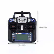 FlySky FS-i6 2.4G 6CH AFHDS RC Transmitter With FS-iA6 Receiver for Airplane Heli UAV Multicopter Drone M09