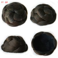9CM New Clip In Bun Hair Chignon Bun Wig Hair Ponytail Drawstring Bun Hairpieces Pony Tail