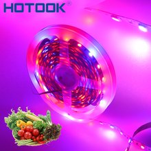 LED Plant Grow Light Full Spectrum Strip 5M 12V 5050 Red Blue 4:1 Tape 16.4ft Waterproof Rope for Greenhouse Hydroponic