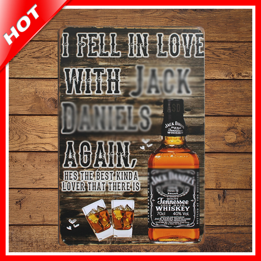[ IDEA ]^_^20*30cm Brand New JD Vintage Metal Signs Home Decor Vintage Tin Signs Pub Vintage Decorative Plates Metal Wall Art
