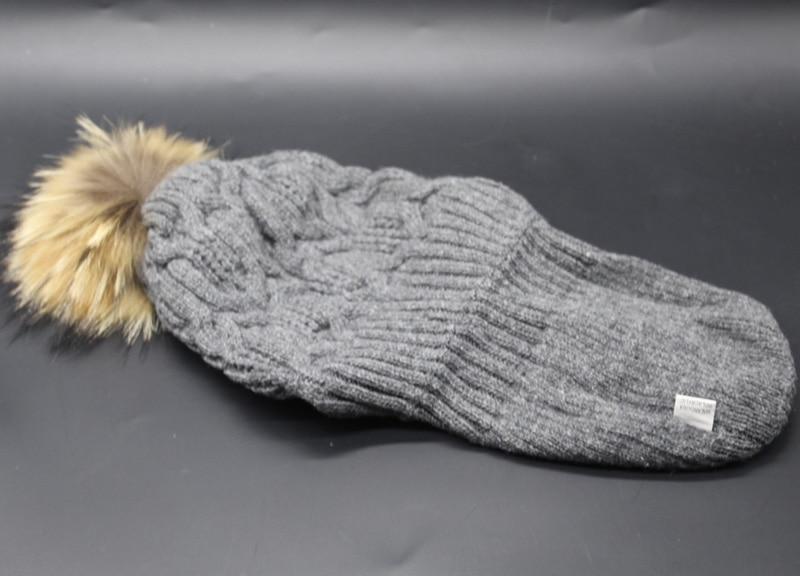 2018 Nueva Moda de Invierno Gorros de Lana Sombrero de Piel Pompones - Accesorios para la ropa - foto 6