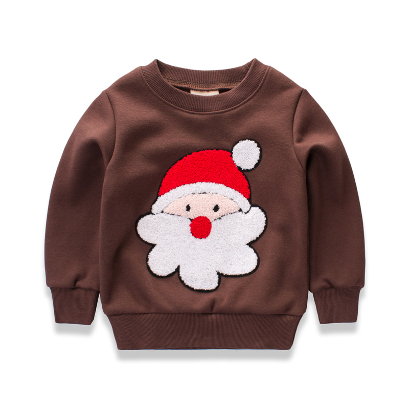 Baby Boys Spring/Autumn Pullover Tops Babies Boy Long Sleeve Father Christmas T-Shirt Sweatshirt Clothing Toddler Clothes 12M-6T