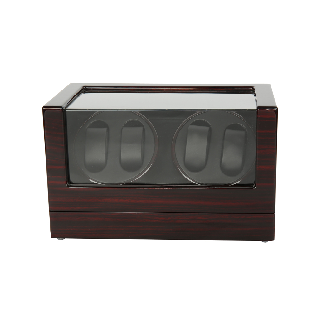 Watch Winders ,LTCJ Wooden Automatic Rotation 4+0 Watch Winder Storage Case Display Box (BB)without the lock watch winder lt wooden automatic rotation 2 0 watch winder storage case display box outside is rose red and inside is white