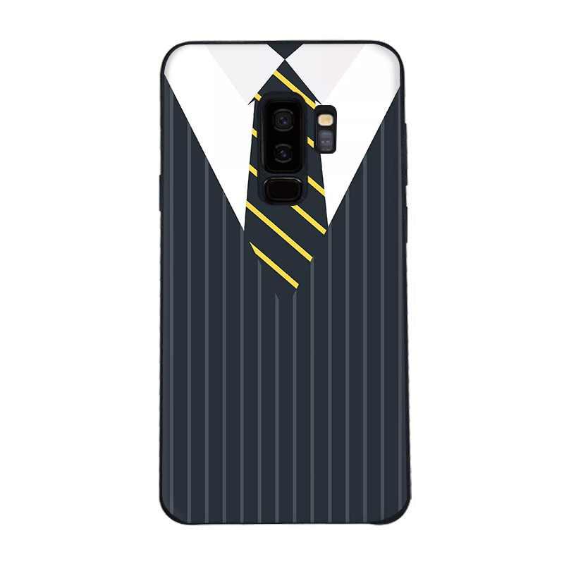 Housse Pour Samsung Galaxy A3 A5 A6 A7 A8 A9 A10 A20 A30 A40 A50 A60 A70 Chemise homme Cravate Lignes