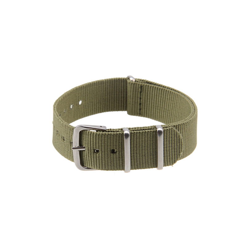 Asli Mewah Kausal 18mm, 20mm, 22mm Militer Army Nylon Fabric Watch Band Strap Alloy Buckle Wrist WatchBand Untuk Jam Tangan