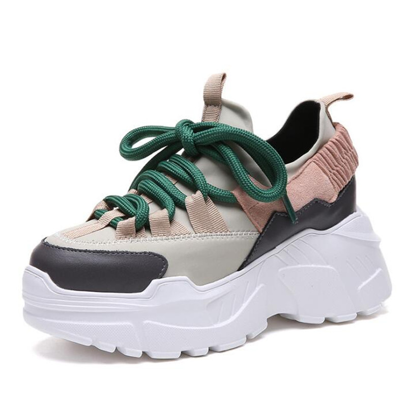 8c21e7cfd8 shoes woman 2018 winter autumn new platform sneakers tenis feminino casual  chunky sneakers woman lace-