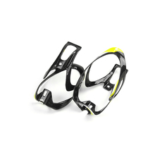 1 Pair Light Carbon Bottle Cage 2pcs Yellow Bicycle Bottle Holder Bike Cage 3K Glossy Bottle Cages Cycling Accessories 30g 2017