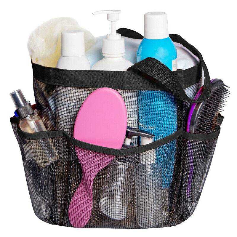 Packable Mesh Toiletry Bag Organizer Makeup Storage Basket Big Capacity Duschtasse Shower Gel Holder for Bathroom Portable(China)