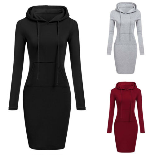 High Quality 2019 New Hot Sale Fashion Women s Casual Style Hooded Hoodie Long Sleeve Sweater High Quality 2019 New Hot Sale Fashion Women's Casual Style Hooded Hoodie Long Sleeve Sweater Pocket Bodycon Tunic Dress Top