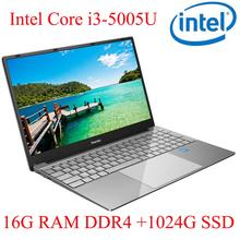 P3-10 16G RAM 1024G SSD I3-5005U Notebook  Laptop Ultrabook Backlit IPS WIN10 keyboard and OS language available for choose